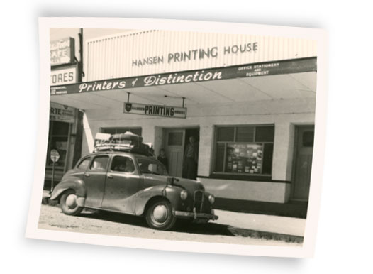 Hansen Printing House in the 1950's